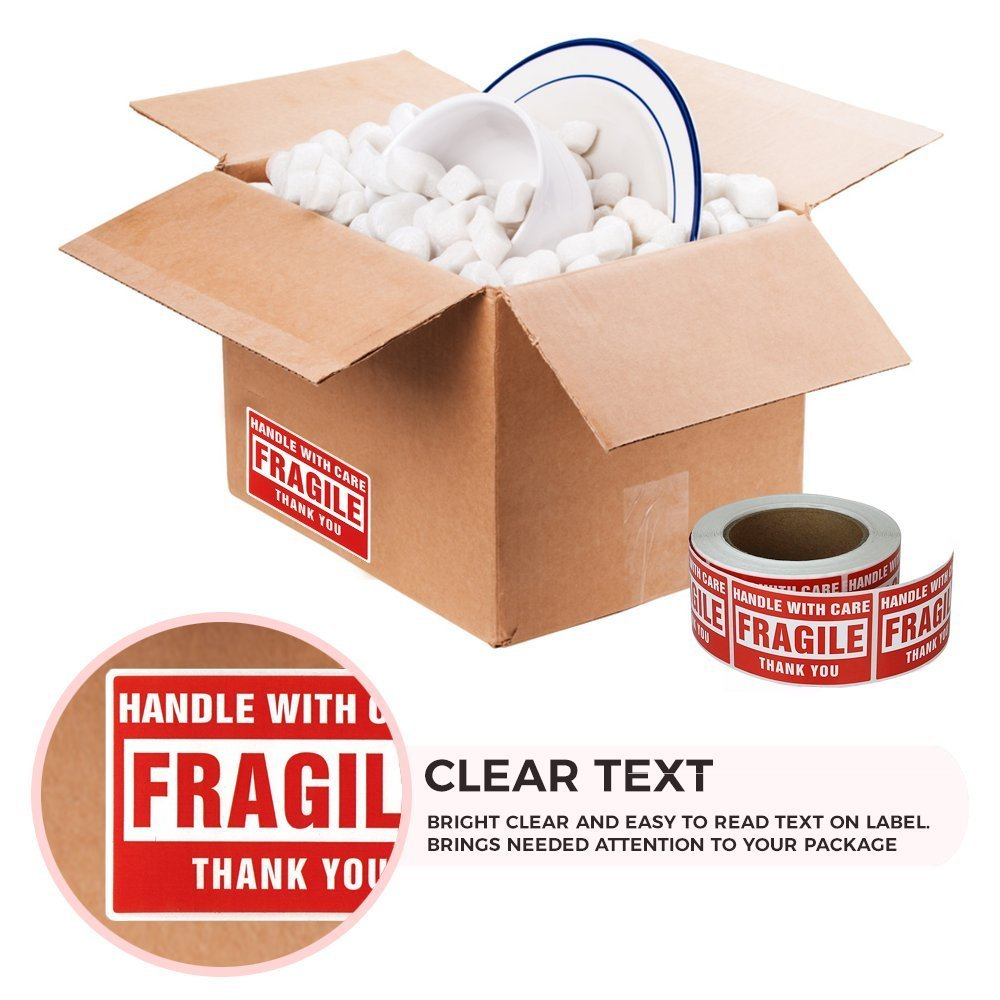 fragile shipping labels, please handle with care, moving stickers, caution fragile, fragile mailing labels