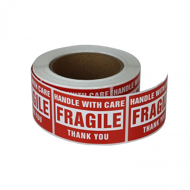 Label Rolls for Fragile Items
