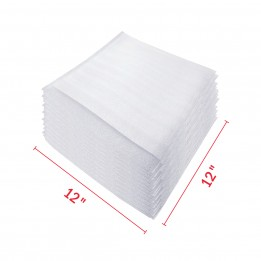 Foam Wrap Pouches / Packaging Foam Sleeves 12″ x 12″ – 50 Packs