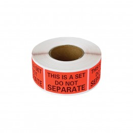 This Is A Set Do Not Separate Labels 1″ x 2″ (500 Labels / Roll)
