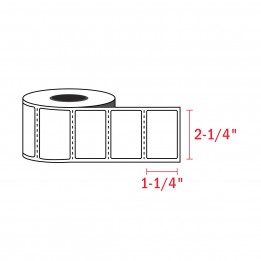 2-1/4″ x 1-1/4″ Direct Thermal Labels – 1″ Core