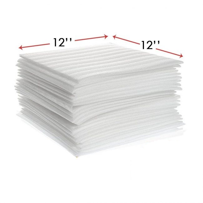 12″ x 12″ Packing Foam Sheets Wrap for Packaging and Shipping