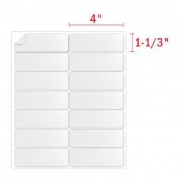 1-1/3″ x 4″ Address Labels (14 Labels Per Sheet) – 14 UP