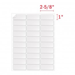 1 x 2 5/8 Labels (30 Address Labels 5160 Per Sheet) – 30 UP