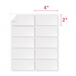 2×4 Labels (10 Labels Per Sheet, 10 UP Blank Address Labels)