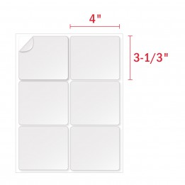 3 1/3 x 4 Labels, 6 Labels Per Sheet, Avery 5164 Compatible