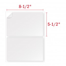 8-1/2″ x 5-1/2″ Half Sheet Labels [2 Labels Per Sheet]