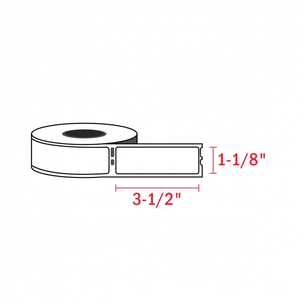 Dymo 30252 Compatible Address Labels, 1-1/8″ x 3-1/2″ (350/Roll)