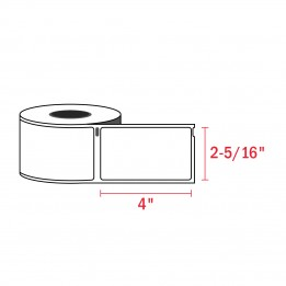 Dymo 30256 Compatible Large White Shipping Labels 2-5/16″ x 4″