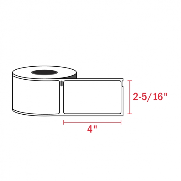 Dymo 30256 Compatible Shipping Labels, 2-5/16″ x 4″ (300/Roll)