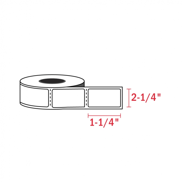2-1/4″ x 1-1/4″ – Zebra Compatible Labels (1000/Roll)