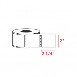 2-1/4″ x 2″ Zebra Compatible Labels (700 Labels / Roll)