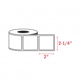 Compatible Zebra 2-1/4″ x 2″ Direct Thermal Labels (700 / Roll)
