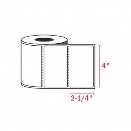 2-1/4″ x 4″ – Zebra Compatible Labels (350 Labels / Roll)