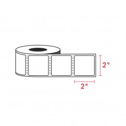2″ x 2″ Zebra Compatible Labels (750 Labels / Roll)