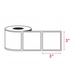3″ x 3″ – Zebra Compatible Labels (500 Labels / Roll)