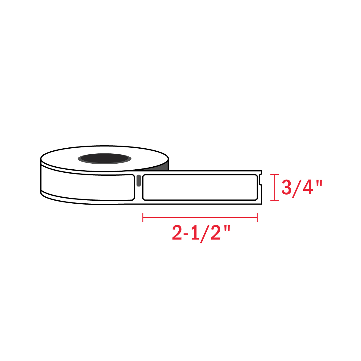 Dymo 1738595 3-4″ x 2-1-2″ (450 Roll) new
