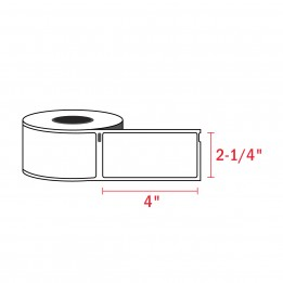 Compatible Dymo 30857 Name Tag Labels 2-1/4″ x 4″ (250 / Roll)