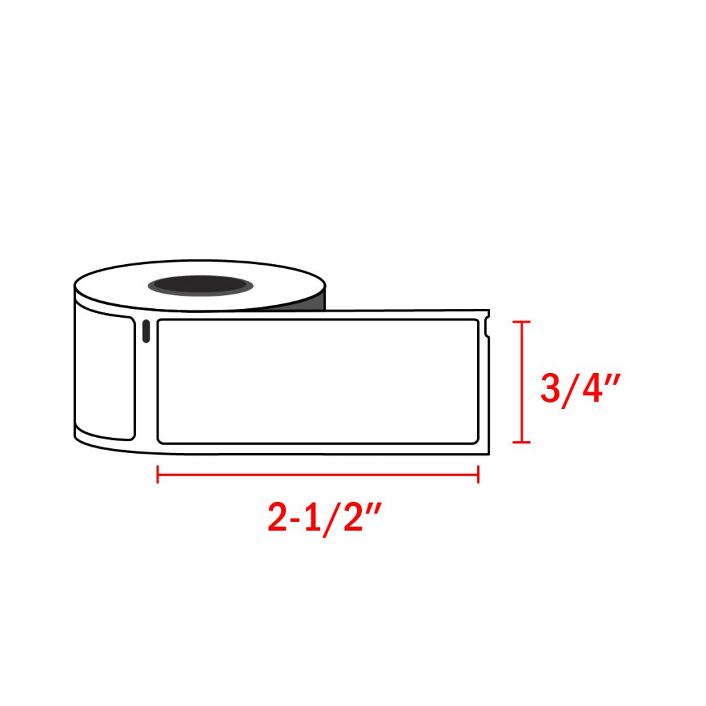 "Dymo 1738595 Compatible Barcode / File Labels 3/4"" x 2-1/2"" (450 Labels / Roll)"