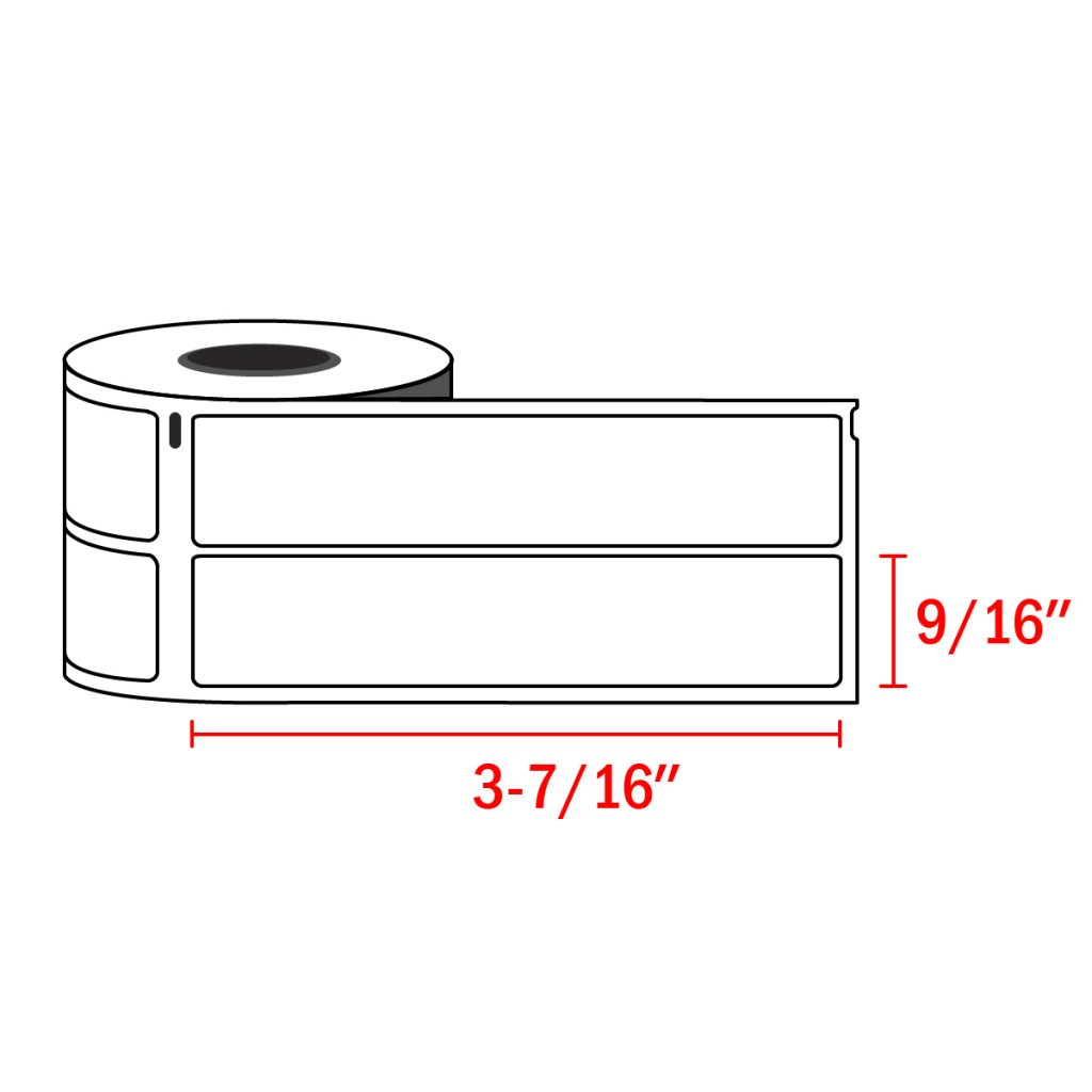 Dymo Compatible 30277 File Folder Labels 9/16″ x 3-7/16″ – 2 UP (260 Dymo 30277 Labels / Roll)