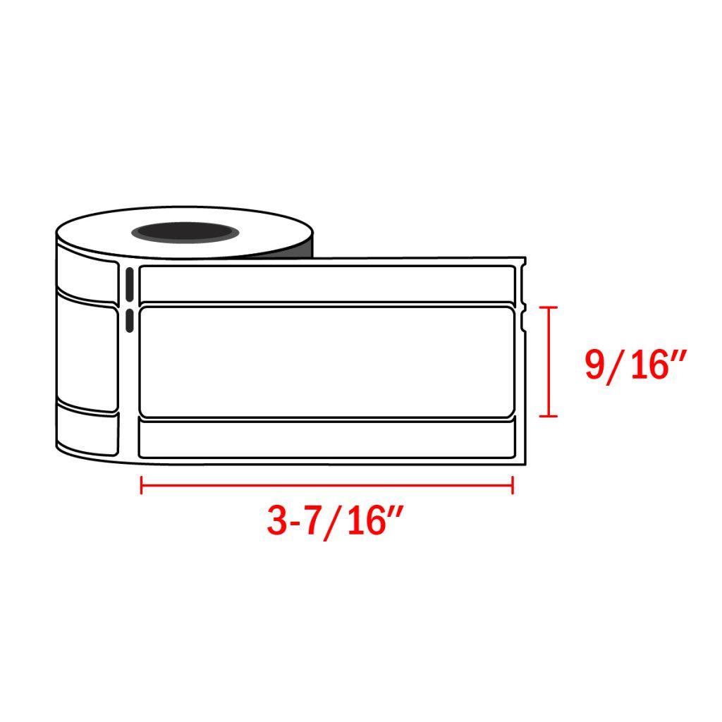 "4 Rolls of Dymo Compatible 9//16/"" X 3-7//16/"" Address File Folder 30327 Labels"