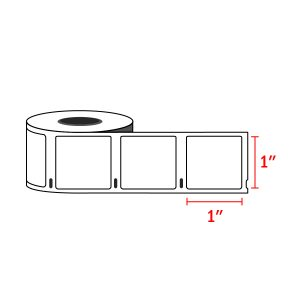 """Dymo 30332 Compatible MultiPurpose Labels 1"""" x 1"""" (750 Labels / Roll)"""