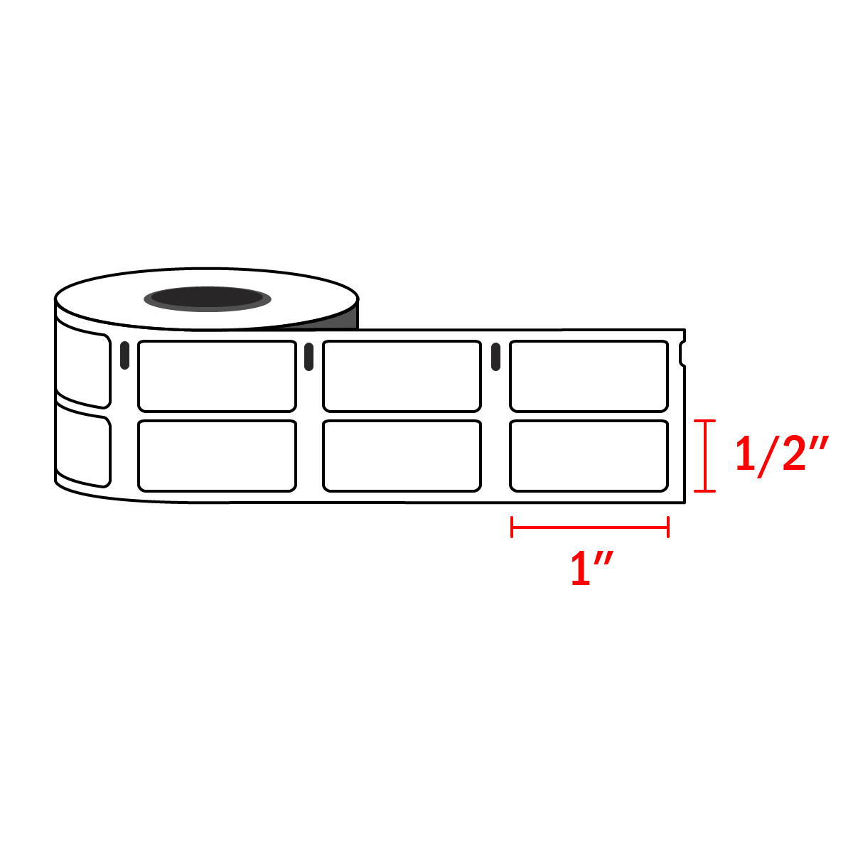 """Compatible Dymo 30333 Small Multipurpose Labels 1/2"""" x 1"""" (1,000 / Roll)"""
