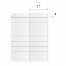 4″ x 1″ Address Labels [20 Labels Per Sheet]