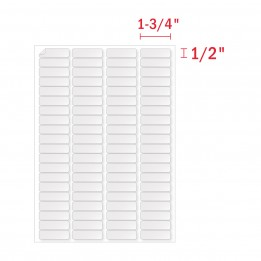 1/2″ x 1- 3/4″ Address Labels (80 Labels Per Sheet) – 80 UP