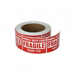 Fragile Stickers – Handle with Care Labels 2″ x 3″ (1 Roll, 500 Labels)