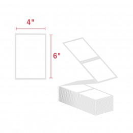 4″ x 6″ Fanfold Labels, 2 Labels Per Fold (1,000 / Stack) Direct Thermal Label
