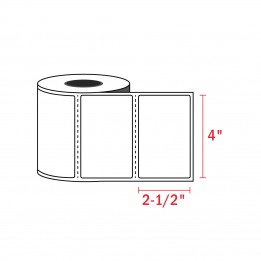 4″ x 2-1/2″ – Zebra Compatible Labels (620 Labels / Roll)