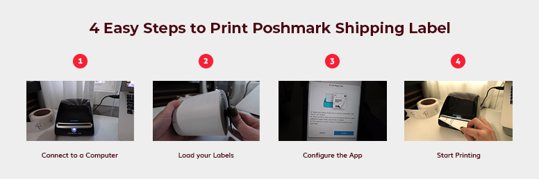 Steps to print a Poshmark Shipping Label from Dymo Labelwriter 4XL