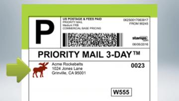 putting logo on postage stamp
