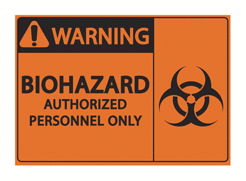 A BIOHAZARD sign