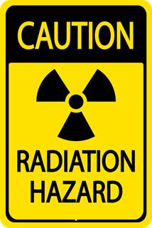 A RADIATION HAZARD label