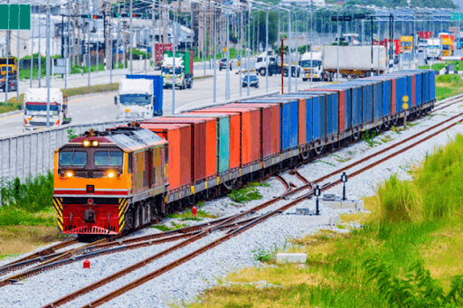 A freight train