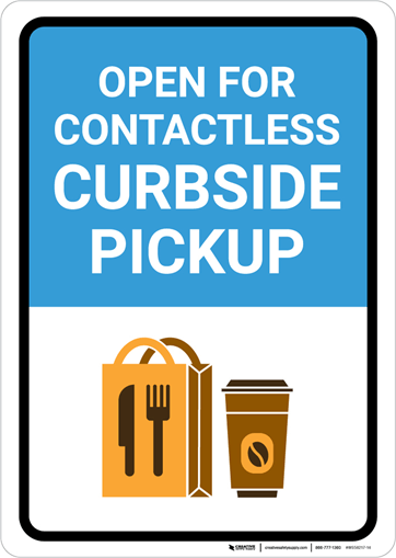 A recommended sign for designated package pickup areas
