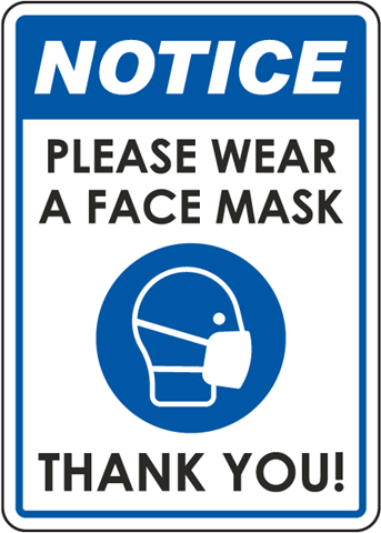 A reminder to wear PPE