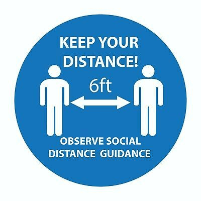 A social distancing decal