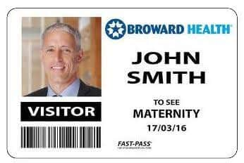 An example of a security-enhanced visitor's pass
