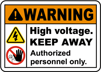 An example of an ADMITTANCE sign