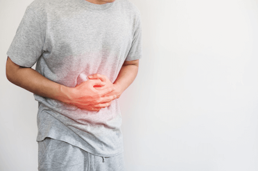 Customer suffering from an upset stomach