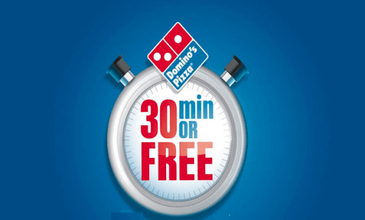 Domino's Pizza hot pizza within 30 minutes