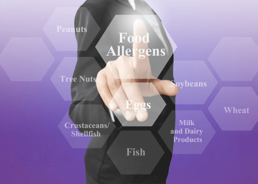 Examples of food allergens
