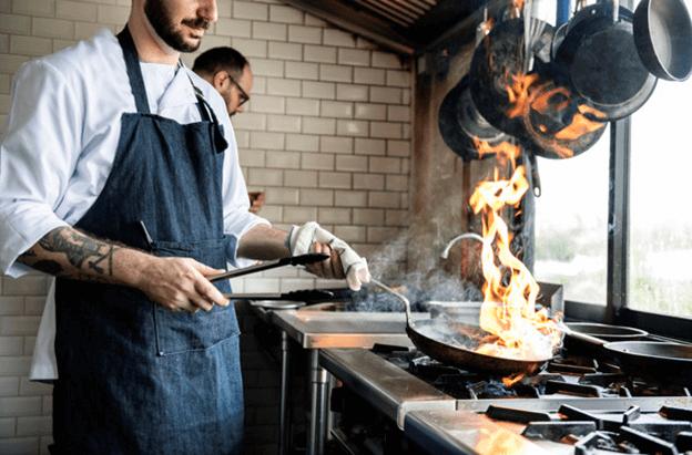 Flame hazard at a restaurant