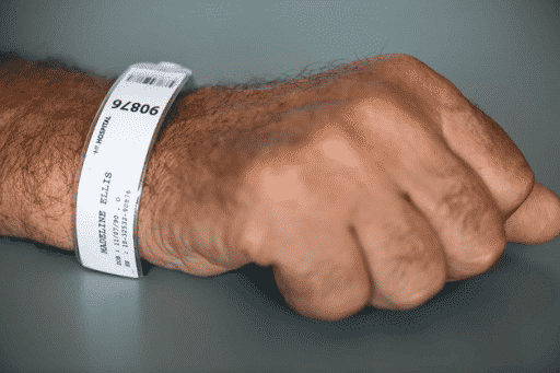 Patient's wristband