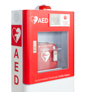 labeled AED