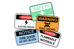 industry standard safety label