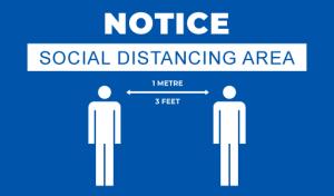 social distancing notice